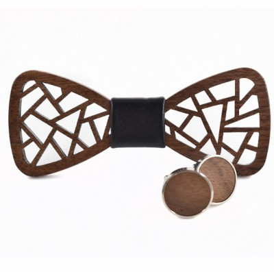 Wooden bow tie with cufflinks Gaira 709029