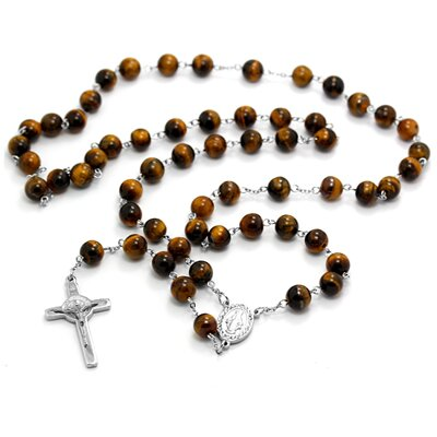 Tiger Eye Rosary 305R0152