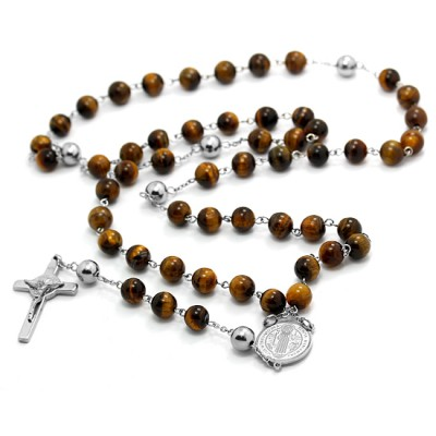 Tiger Eye Rosary 305R0340